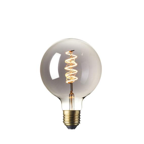 Calex LED Flex Globe 125mm 4W Titanium 2100K 425783