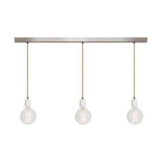 No.11 Hanglamp balk 3 lichts RVS