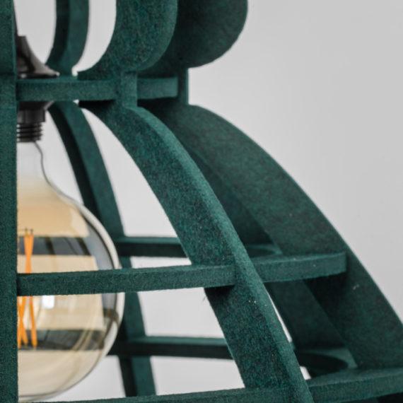 No.19XL hanglamp PET Felt Dark Green 60cm by Olaf Weller