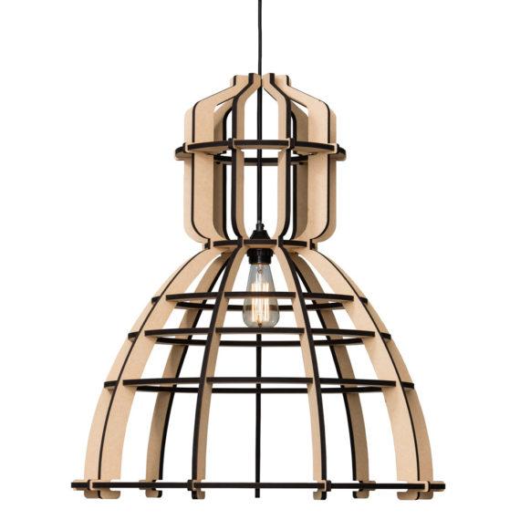 No.19XL industrielamp MDF 60cm by Olaf Weller