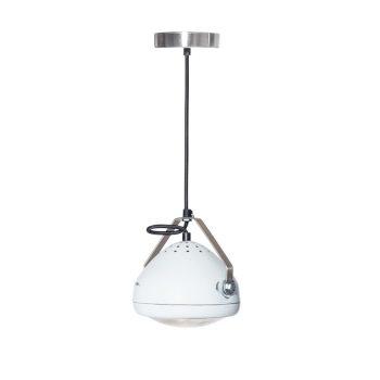 No.5 Hanglamp vintage koplamp wit