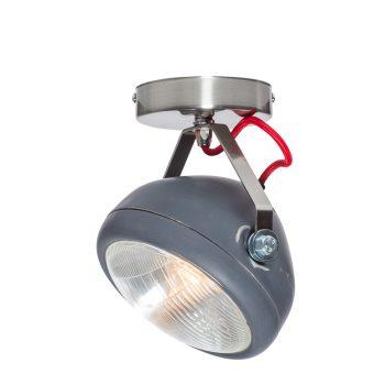 No.7 Spot vintage koplamp grijs